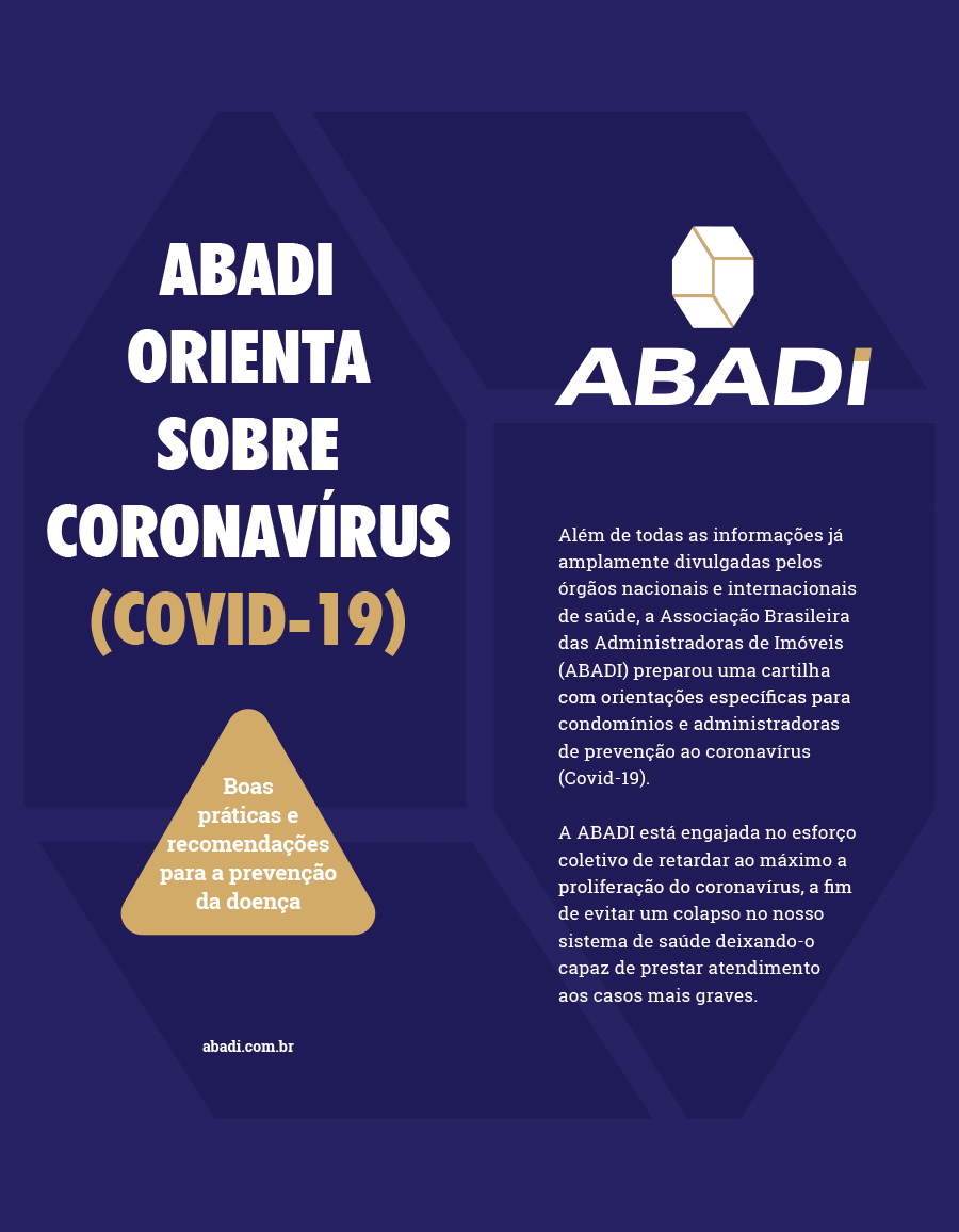 Protocolo – ABADI orienta sobre o coronavírus – 1ª Edição