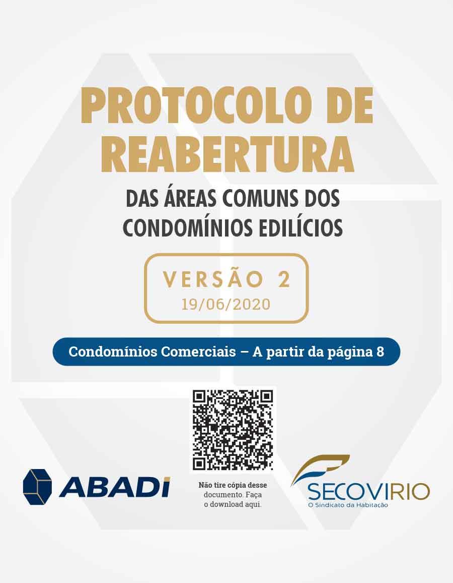 Protocolo de Reabertura das Áreas Comuns e dos Condomínios Comerciais – 2ª Edição